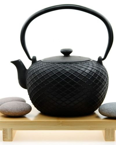 Cast iron KYOTO black teapot 0.8L –Tetsubin Japanese style tea pot kettle - GOTO